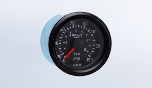 Cockpit International 150 PSI/10 bar Mechanical Oil Pressure Gauge, 12V