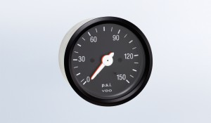"Cockpit International 150 PSI  3 1/8"" Mechanical Dual Air Pressure Gauge, 12V"