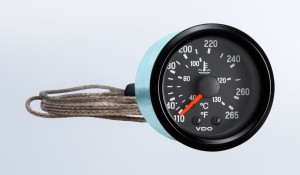 "Cockpit International 265°F/130°C Mechanical Temperature Gauge with 72"" Capillary, 12V"