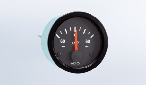 Vision Black  60A Ammeter, Does Not Require External Shunt, 12V