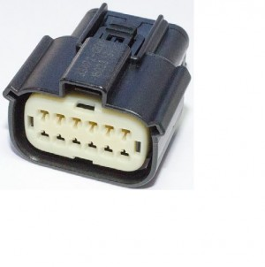 Molex MX150 12pin connector with wire harness.