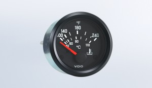 Cockpit International 240°F /110°C Water Temperature Gauge, Use with US Sender, 12V, M4 Stud Connection