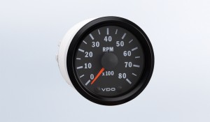 "Cockpit International 8,000 RPM 2 1/16"" (52mm) Tachometer, 12V, for 1 & 2 Cylinder"
