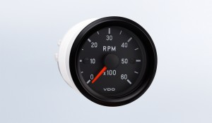 "Cockpit International 6,000 RPM 2 1/16"" (52mm) Tachometer, 12V"