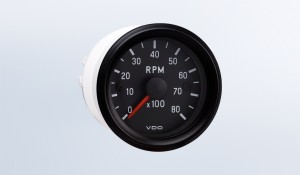 "Cockpit International 8,000 RPM 2 1/16"" (52mm) Tachometer, 12V"