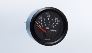 Cockpit International 80 PSI/5 bar Oil Pressure Gauge, Use with VDO Sender, 24V, M4 Stud Connection