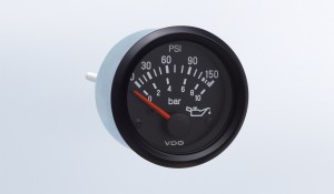 Cockpit International 150 PSI/10 bar Oil Pressure Gauge, Use with VDO Sender, 12V, M4 Stud Connection