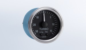 "Series 1 30"" HG-15 PSI Mechanical Turbo Gauge with Tubing Kit and Metric Thread Adapters"
