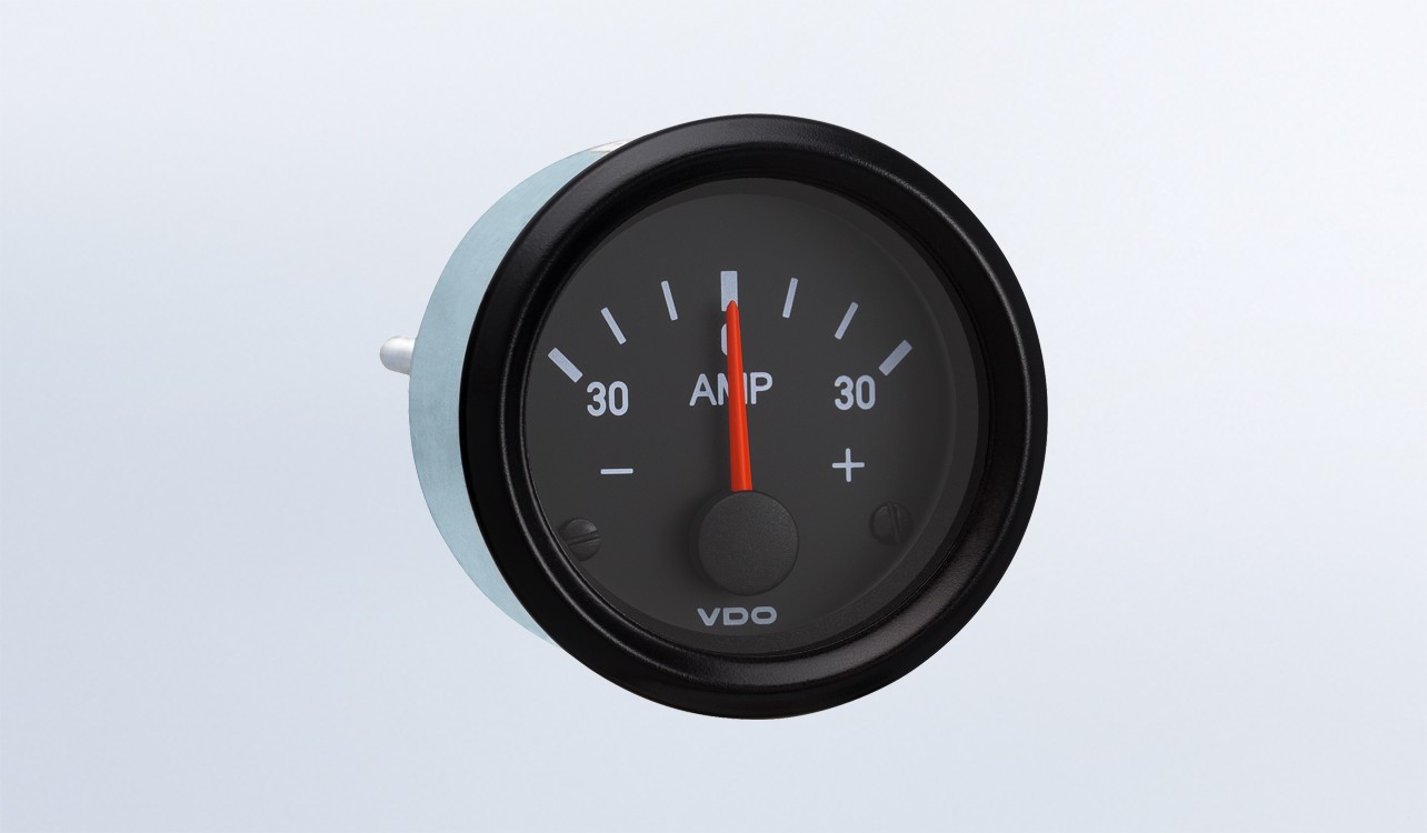 Cockpit International 30a Ammeter Does Not Require External Shunt Air Pressure Gauge Wiring Diagram 12v By Series Instruments Displays And Clusters