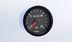 Vision Black 15 PSI Mechanical Boost Gauge, 12V