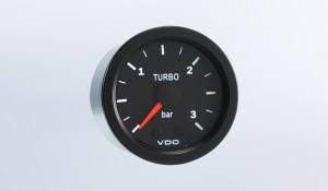 Vision Black 3 bar Mechanical Boost Gauge, 12V